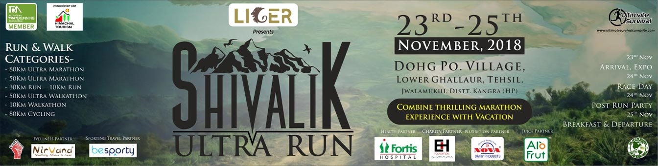 3rd Shivalik Ultra Run, 23 - 25 November 2018, Dohg(Jajwar) village, Lower Ghallour, Jwalamukhi Tehsil, Kangra District, Himachal Pradesh, Coach Ravinder Gurugram