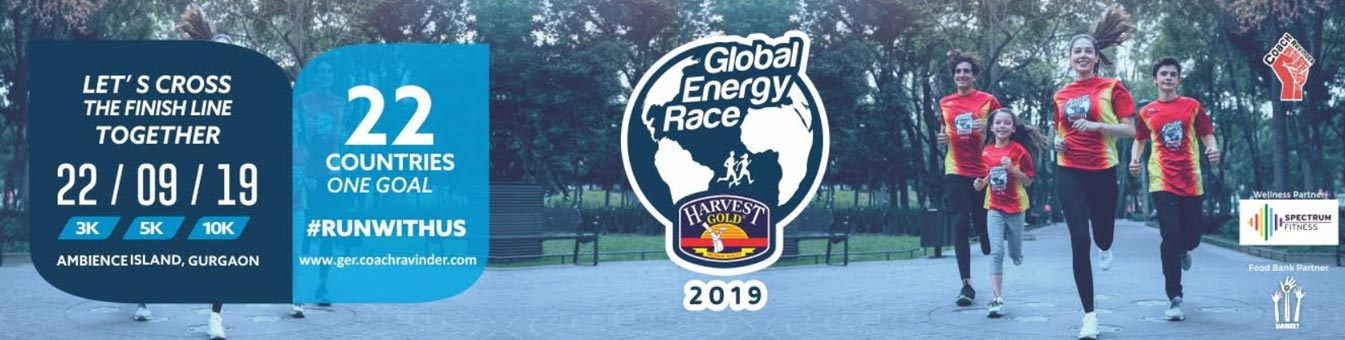 Global Energy Race 2019, India Running Events, Coach Ravinder Gurugram