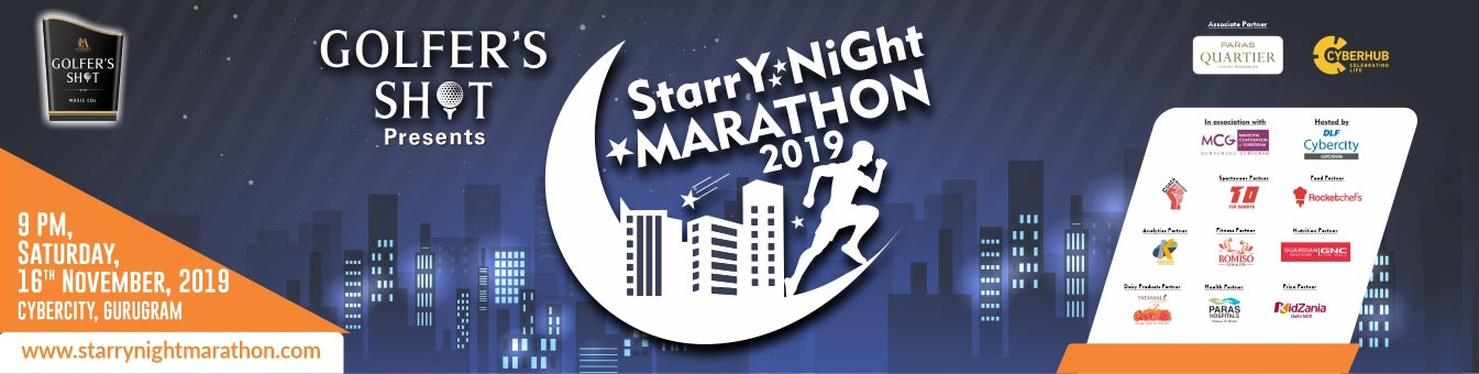 Starry Night Marathon, Saturday, October 12 2019 Gurugram, Coach Ravinder Gurugram