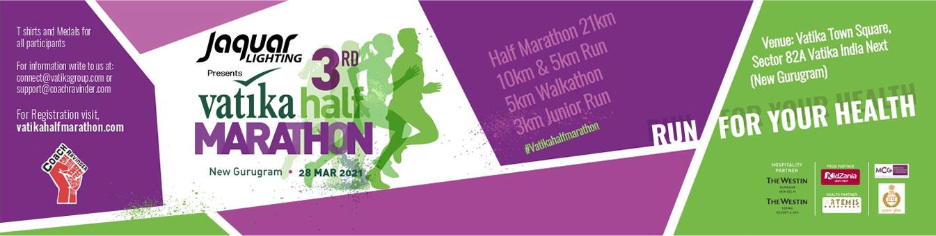 Vatika Half Marathon, Coach Ravinder Gurugram